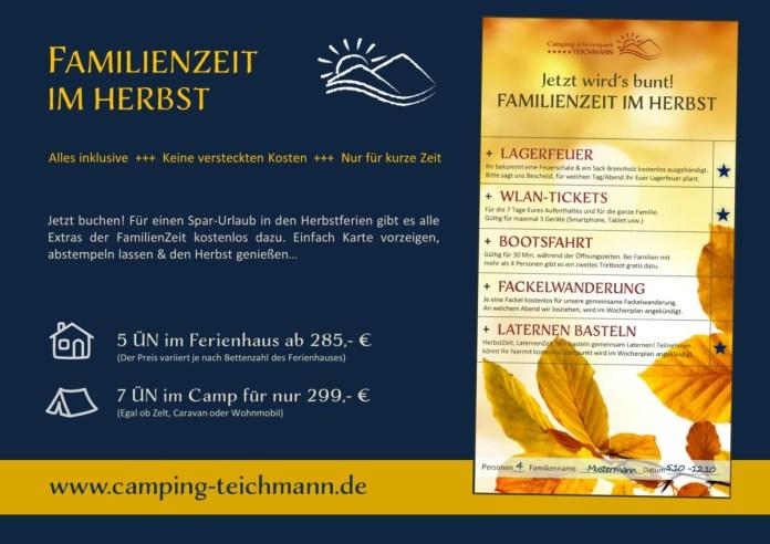 Camping Teichmann Herbstaktion
