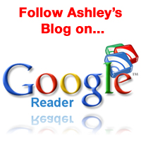 follow Ashley's blog on google reader