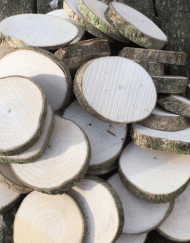 100 Small Undrilled Wood Cookies