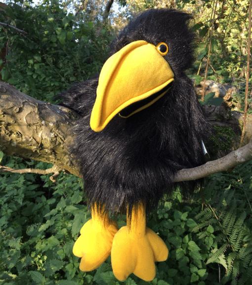 Black Crow Raven Rook Puppet