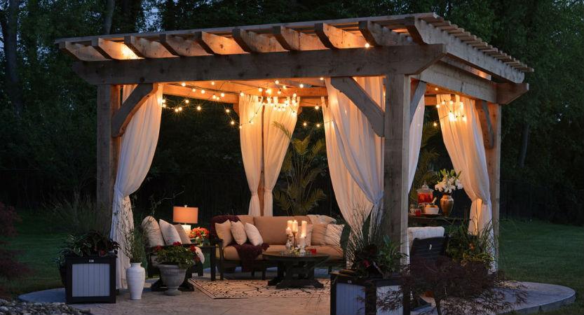 outdoor patio lighting ideas use a