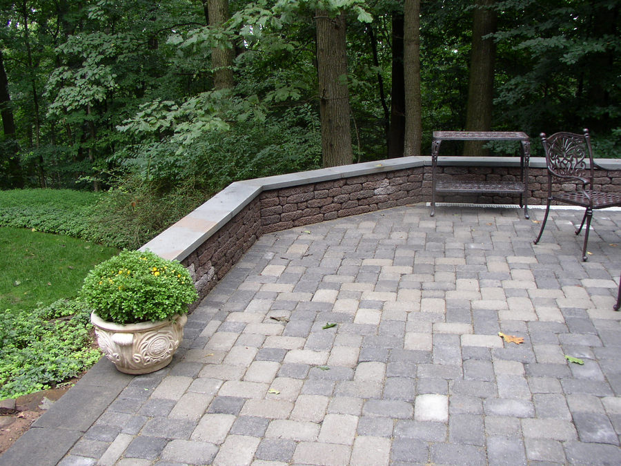 Seating Wall - Patio - Warren - NJ - Outdoor Living Spaces ... on Warrens Outdoor Living id=31504
