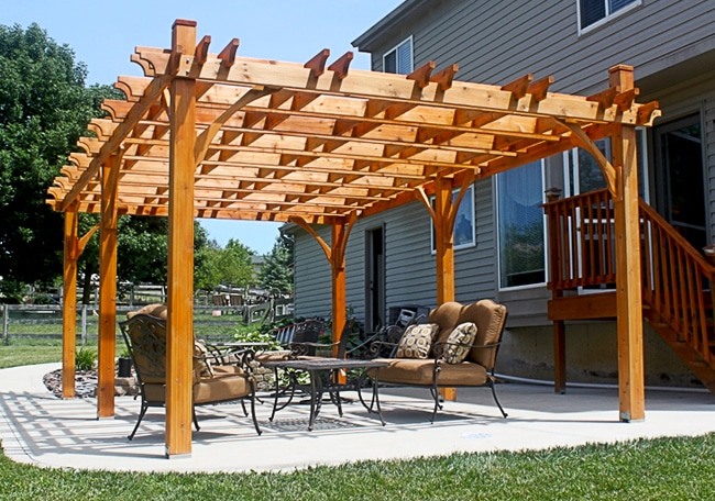 Cedar Pergola 12x20 Pergola Kits Outdoor Living Today