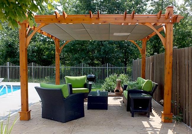 pergola with retractable canopy 12x12
