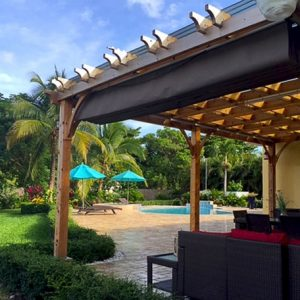 pergola with retractable canopy covers