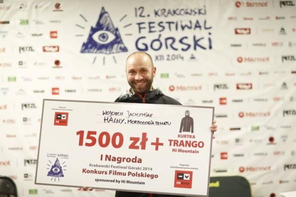 Wojciecha Jachymiaka z nagrodą podczas 12. KFG (fot. Wojtek Lembryk)