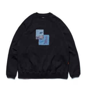 [GOOPiMADE] GOOPiMADE x SYNDRO SWEAT SHIRT 拼接寬鬆大學Tee/深藍 Navy