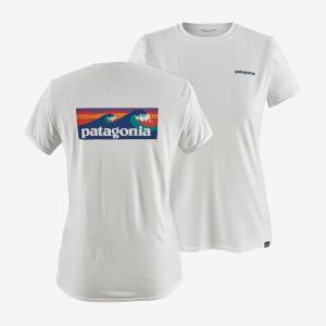 [Patagonia] 女款 Cap Cool Daily Graphic T恤/Boardshort Logo/白(PT45250-BOLW)