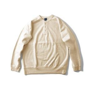 [Good On] 9oz Heavy Henley Sweat 長袖上衣 / Cream