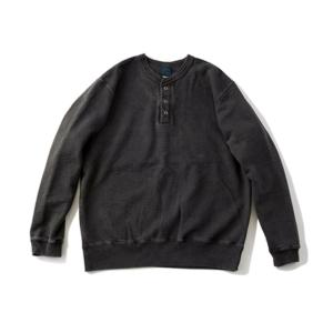 [Good On] 9oz Heavy Henley Sweat 長袖上衣 / Black