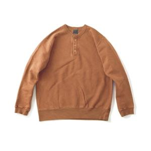 [Good On] 9oz Heavy Henley Sweat 長袖上衣 / Mocha
