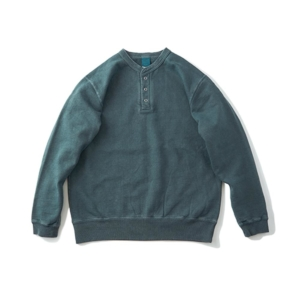 [Good On] 9oz Heavy Henley Sweat 長袖上衣 / Slate