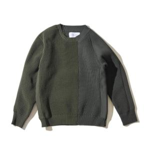 [F/CE] LEFT RIGHT KNIT CREW / Olive (F2002FCMKN0004)