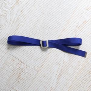[WILD THINGS] BRIGHT WEBBING BELT 織帶皮帶(115cm)/藍 (WT21151P-WT10)