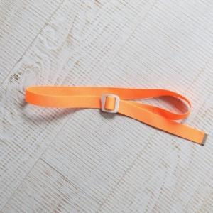 [WILD THINGS] BRIGHT WEBBING BELT 織帶皮帶(115cm)/螢光橘 (WT21151P-WT13)