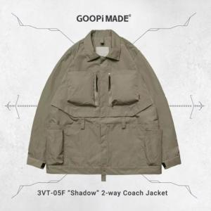 "[GOOPiMADE] VT-05F ""Shadow"" 2-way Coach Jacket – 淺卡其Khaki"