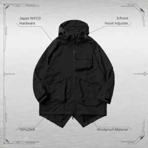"[GOOPiMADE]  MP-03T ""STAGHORN"" Fishtail Utility Parka -Black 黑"