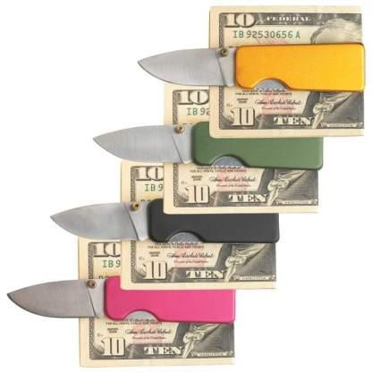Money clip knife