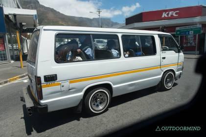 Chaotische Zustände in Minibussen in Südafrika