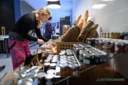 Marmeladen und Brotauswahl im Spenglers