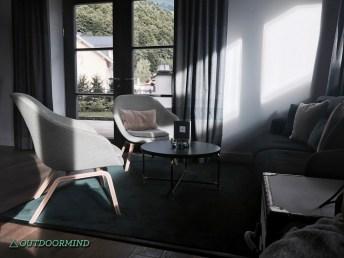 Lounge im Löwen Hotel
