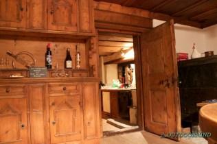 Bündner Stube und Küche im Walserhaus im Casa da Luzi