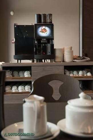 Kaffee beim Frühstück im Ameron Hotel Davos
