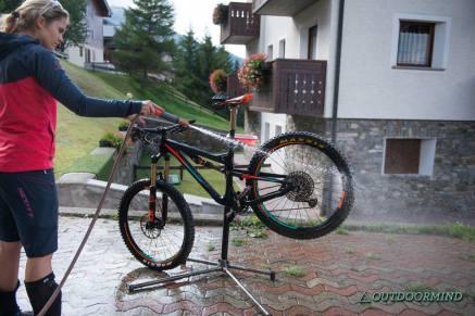 Bikewaschmöglichkeit beim Hotel Vedig