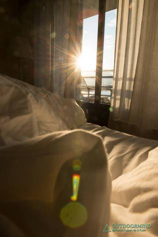 Sonnengruss am Morgen im La Barca Blu