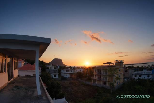 Sonnenuntergang vom Apartment aus