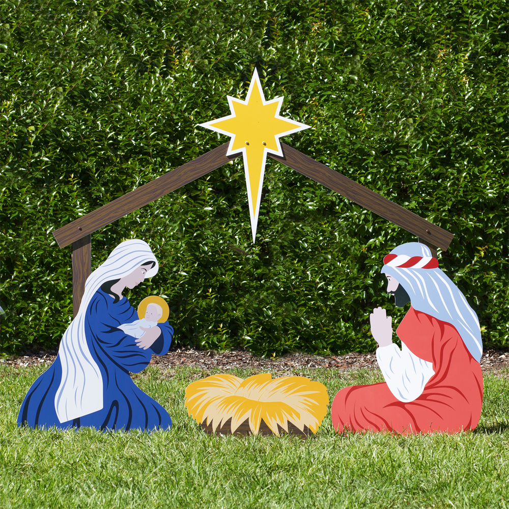 Holy Family Large Classic Nativity Set Outdoor