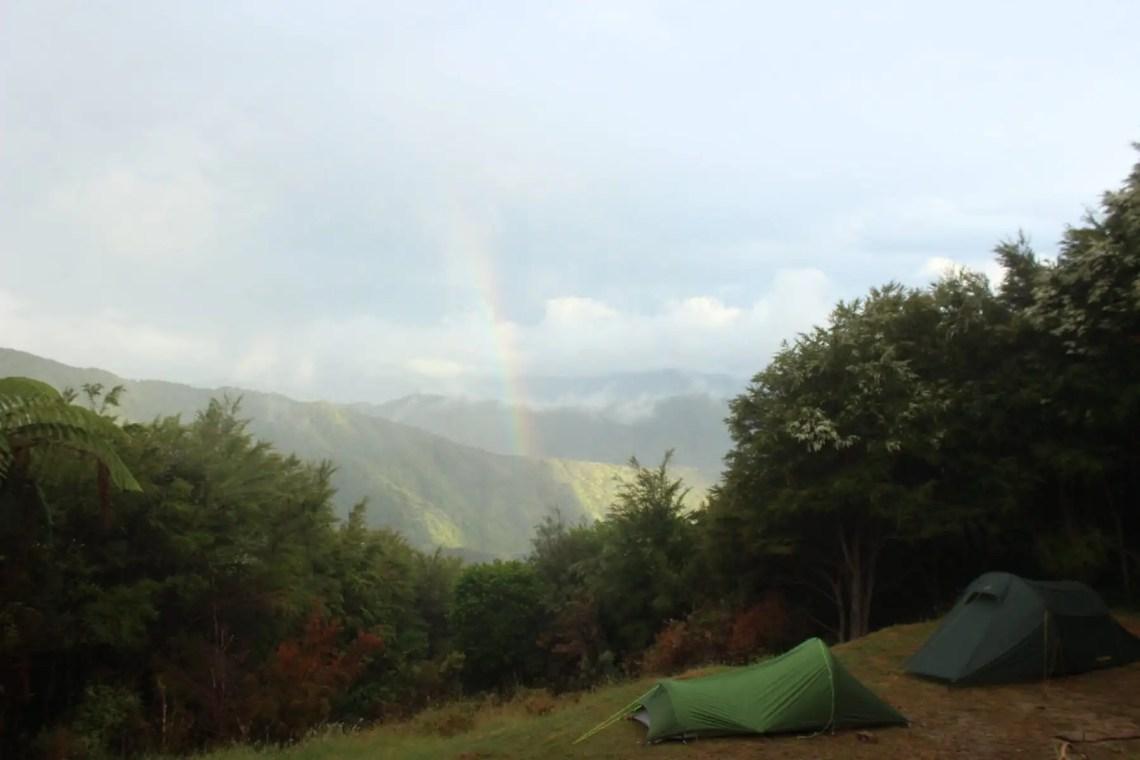 Regenbogen Fernwanderung Te Araroa
