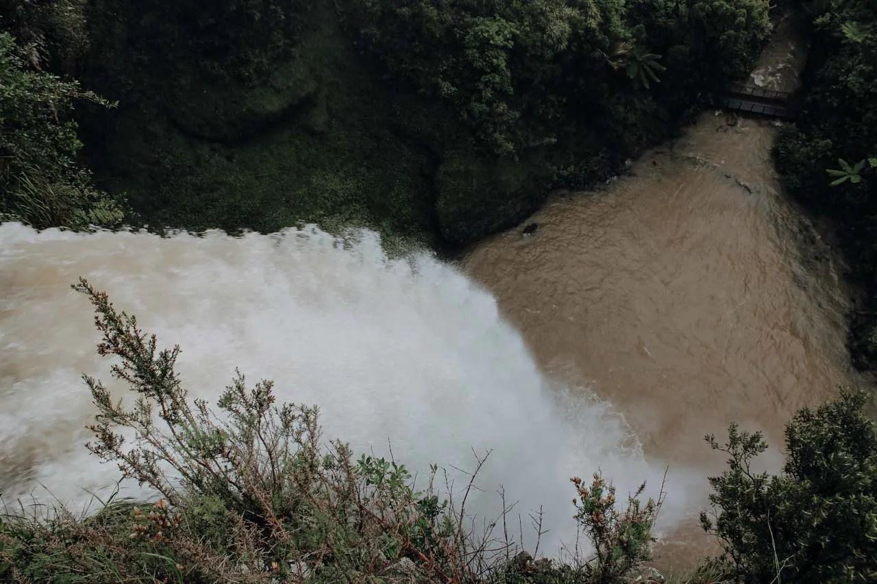 Bridal Veil Falls nach starkem Regen