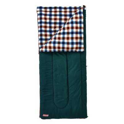 Coleman Fleece EZ Carry Sleeping Bag C5 brown check