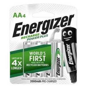 Energizer Recharge Power Plus 2000mAh AA Battery 4pcs