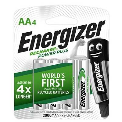 Energizer Recharge Power Plus 2000mAh AA Battery 4pcs