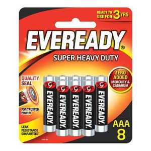 Eveready AAA8 Battery Super Heavy Duty