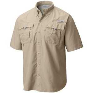 Columbia Bahama II Short Sleeve Shirt M fossil