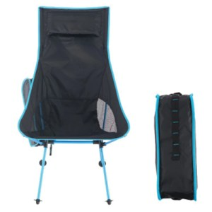 Camp Leader ODP 0612 Portable Camping Moon Chair High Back sky blue