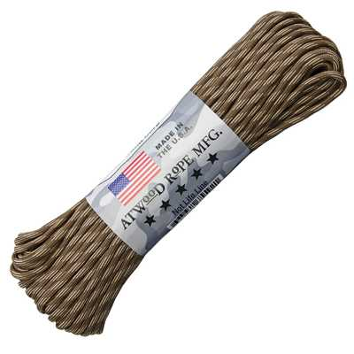 Atwood Rope MFG Paracord 550 Type 7 Strands 100 Feet Quicksand