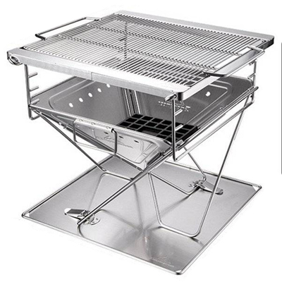 Campingmoon Foldable Barbecue Grill Large