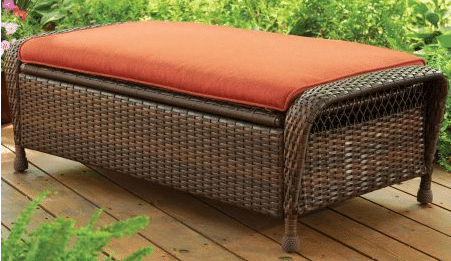 patio furniture with storage for cushions