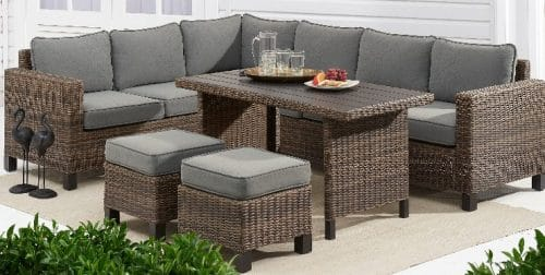 all weather wicker patio set review