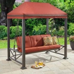 patio swing daybed combo with gazebo