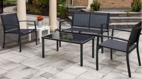 walnew patio furniture without cushions