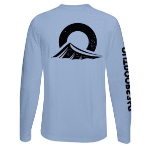 Outdoors360 Baby Blue black ink shirt