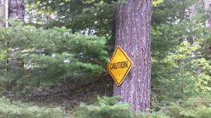 Caution Sign Grand Portage