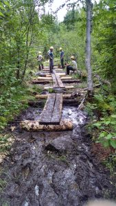 Conservation Corps Wood Plank Rebuild