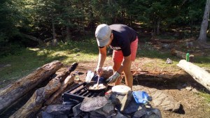 Cooking Over Fire BWCA Ester Lake