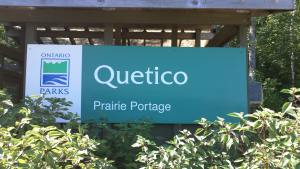 Quetico Prairie Portage Sign